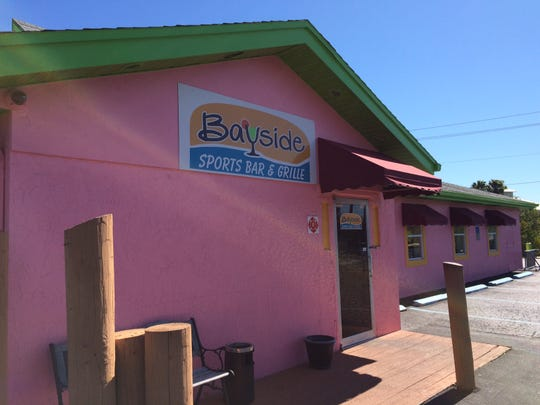 Bayside Grille sits in a colorful, low-slung cottage en route to Estero Island on Fort Myers Beach.