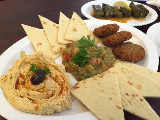 Busca Mediterranean serves up aan aray of dishes like hummus, baba ganouj and falafel in the Turkish style.