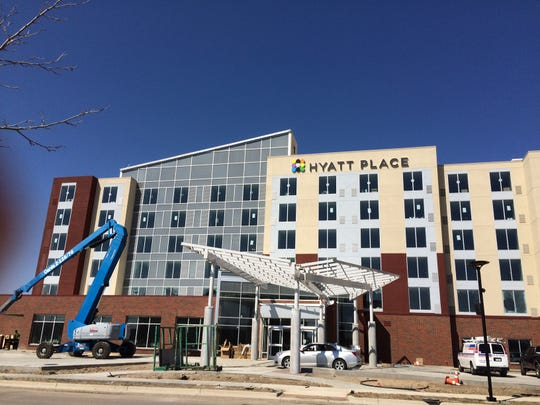 A $15 million, 128-room Hyatt Place hotel, part of Hyatt Hotels Corp., is expected to open May 8 at The Heights at Eastwood north of Eastwood Towne Center in Lansing Township. Its website says the hotel is taking reservations starting June 1.
