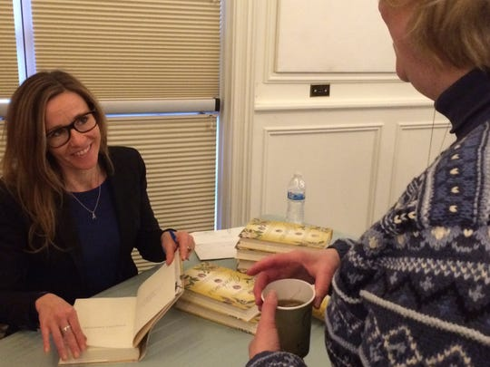 Author Andrea Wulf signed copies of her new book, Founding Gardeners, on Jan. 18 at Frelinghuysen Arboretum in Morristown.