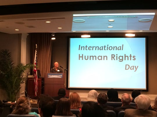 Nashville Human Rights Commission Executive Director Beverly Watts moderated the International Human Rights Day celebration at the First Amendment Center on Dec. 10, 2014.