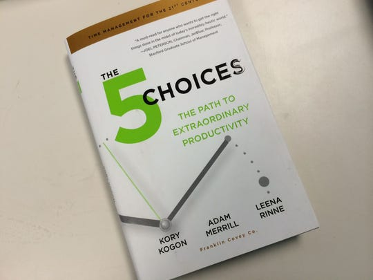 "FranklinCovey's new workplace-help book and program, ""The 5 Choices to Extraordinary Productivity,"" kicked off a 50-city tour earlier this month in Phoenix."