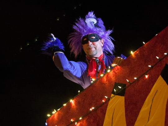 The Krewe of Lafitte Illuminated Mardi Gras Parade gets underway at 7 p.m. Friday in downtown Pensacola.