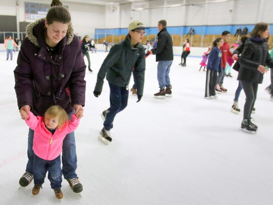 Indoor skating at Eble Park Ice Arena is a popular attraction at the Waukesha JanBoree.