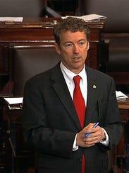 "Sen. Rand Paul, R-Ky., says, ""I think I need to present"
