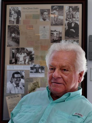 Dave Sanders reflects on his time as a child prisoner of war of the Japanese in the Philippines during World War 2. Dave was there with his parents who were missionaries. Many of the photographs on display behind him are from the time he and his family were held as POWs.