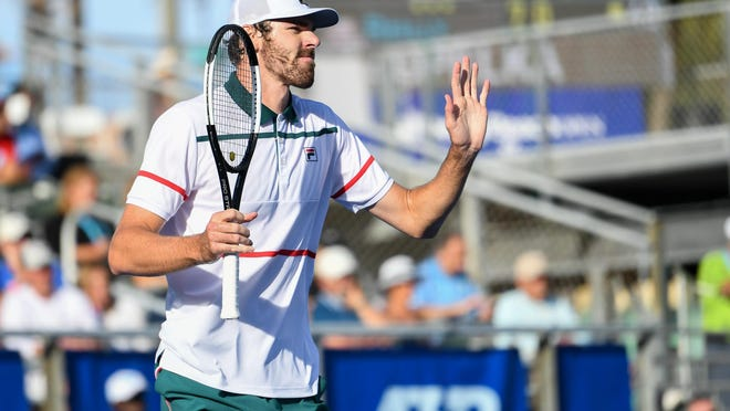Delray Beach resident Reilly Opelka, shown here at the 2020 Delray Beach Open, won the first title of the UTR Pro Match Series' 2020 (Re) Open Tour on Saturday in an undisclosed location in Palm Beach County.