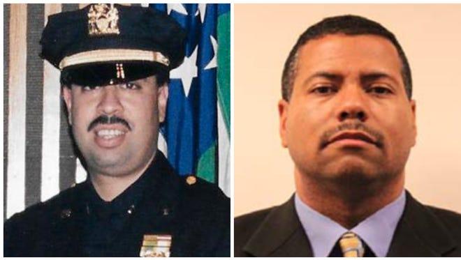 (Left) NYPD Lt. Luis Lopez, Deputy U.S. Marshal Zacarias Toro (right).
