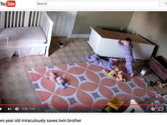 Viral video of toddler trapped under dresser has many asking: Where were the parents?