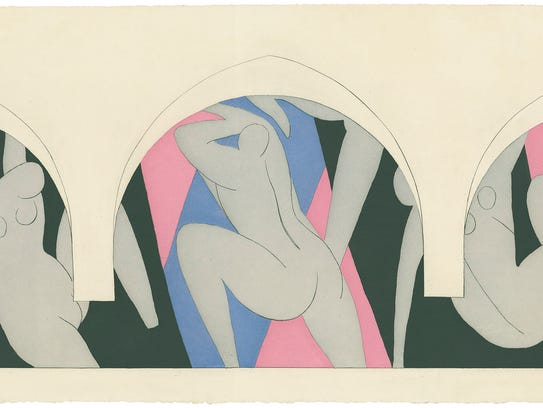 "Henri Matisse, ""La Danse,""  1935-36, color aquatint."