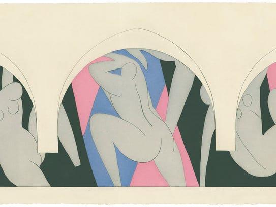 """Henri Matisse, """"La Danse,""""  1935-36, color aquatint."""