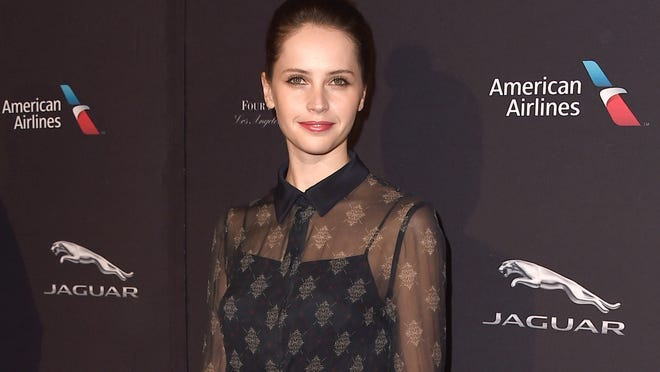 First-time Globes nominee Felicity Jones was chatty at the BAFTA tea.  (Jordan Strauss/Invision/AP)