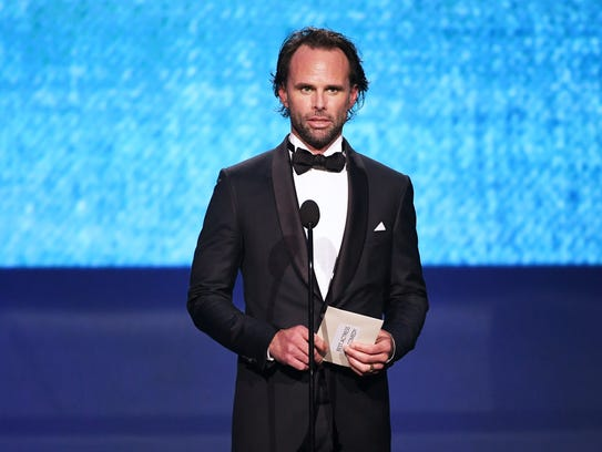 Presenter Walton Goggins was pressed into service accepting