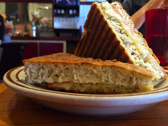 The ham Panini comes with ham, Swiss and horseradish