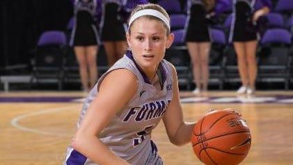 Carolina Day alum Allison Beasley now plays college basketball for Furman.