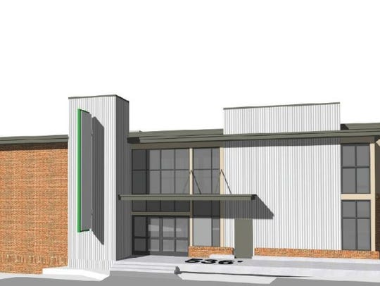 Another view of the planned grocery store building.