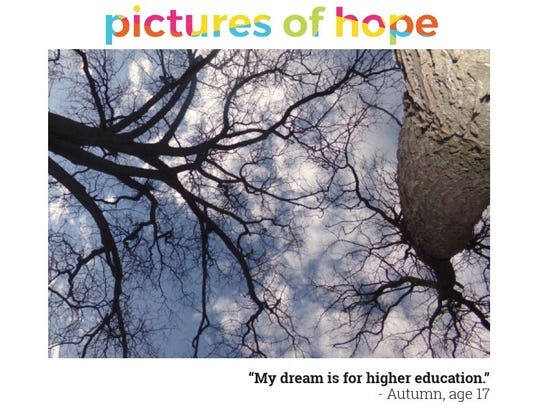 This photo by Autumn Cardinal, 17, is part of a set of cards being sold to benefit Gateway Youth Services, which operates a shelter for youths with troubled backgrounds.