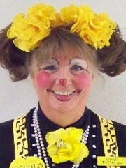 San Angelo's own Piccolo the Clown, also known as Kathy