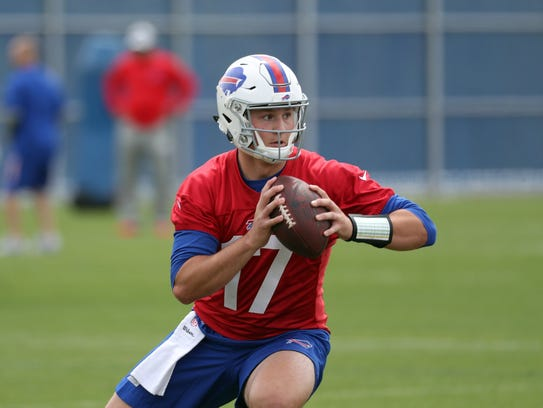 Buffalo Bills top draft pick quarterback Josh Allen