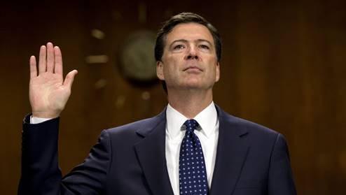 James Comey is sworn in as FBI Director in 2013.
