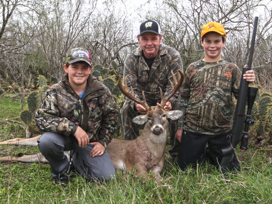 Jamie Ballard, of Winfield, AL.,  traveled for 15 hours to give his sons a chance at a South Texas whitetail from Knolle Farm and Ranch. They'll be back, he said.