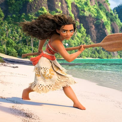 The title character (voiced by Auli'i Cravalho) of