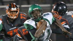 Milwaukee Hamilton's Lazabia Jackson ran for a career-high 301 yards in a 34-28 victory over Milwaukee Washington