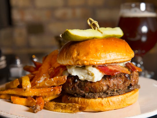 Kindred makes its burger with mushroom duxelles, Gruyere