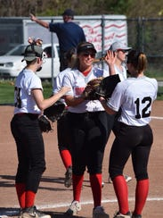 Shelby Lady Whippet Hayley Kangiz tossed a five-inning