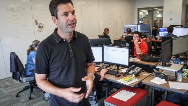 Chris Sullens, CEO and president of WorkWave, is contemplating a move from Neptune to Bell Works in Holmdel, or possibly St. Louis.