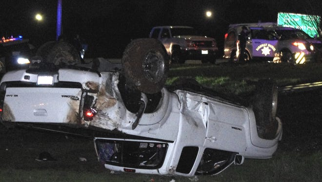 A Redding man was arrested on suspicion of DUI after the truck he was driving went off the onramp onto Interstate from Highway 44 on Sunday night.