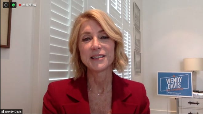 Democrat Wendy Davis, running for the 21st Congressional District, was interviewed by the American-Statesman editorial board on Wednesday via Zoom.