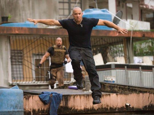"""Diesel breaks off a piece of """"The Rock"""" – Dwayne Johnson – in """"Fast Five."""""""