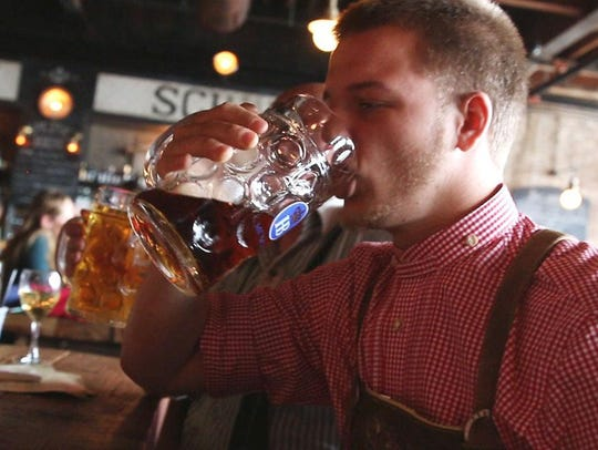 An Oktoberfest celebration at Asbury Festhalle.
