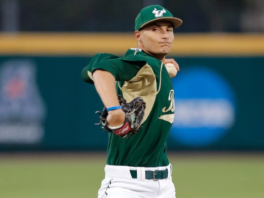 USF left-handed pitcher Shane McClanahan, a Cape Coral High product, is projected to be taken in the first round Major League Baseball First-Year Player Draft on Monday.