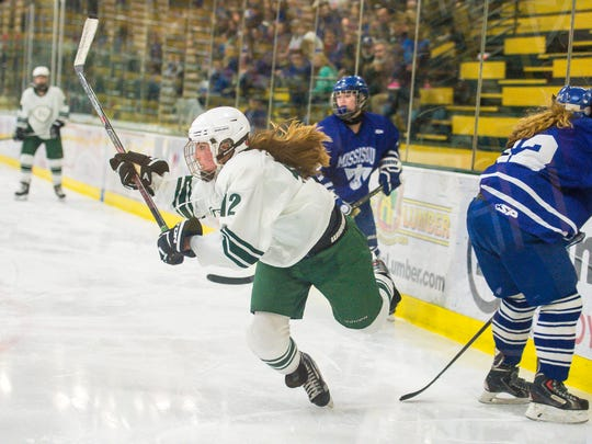 Abby McKeown is one of the key returnees for the Rice girls hockey team.