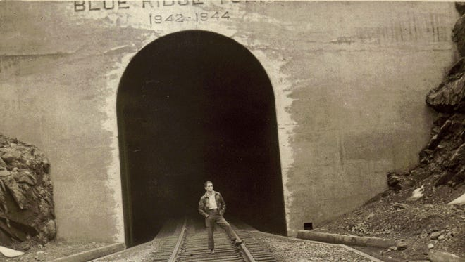 The new C&O tunnel on opening day, April 12, 1944.