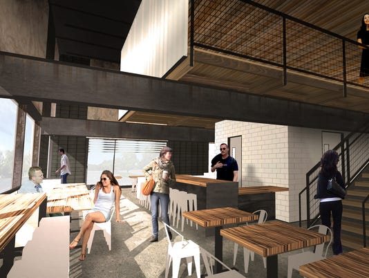 Press Coffee Roastery rendering interior