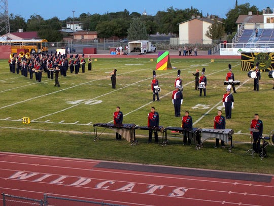 The Deming High School Wildcat Marching band hosted