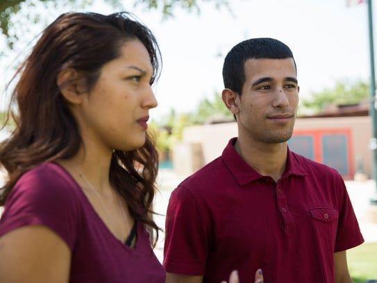 Jefferson Taborda,23, right and Jocelyn Ortiz,20,left,
