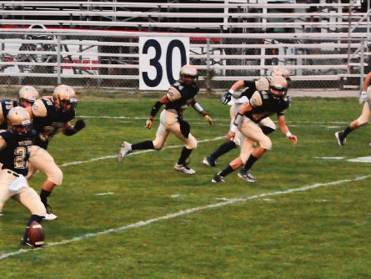 The Ruidoso Warriors earned its first win of the season against Pojoajue Valley Friday.