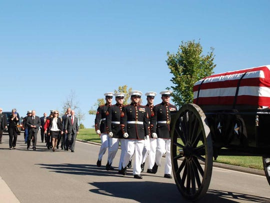 Cpl. Walter Critchley's remains were buried with full