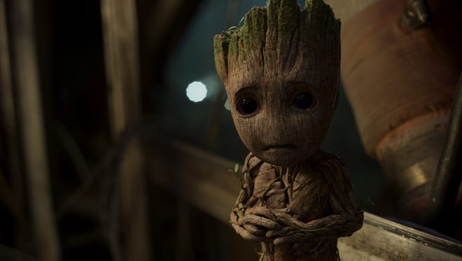 "Groot (voiced by Vin Diesel) has some explaining to do in ""Guardians of the Galaxy, Vol. 2."""