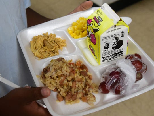 The BOPIC Youth Leadership program serves lunch Tuesday,