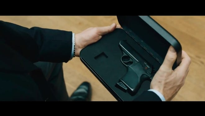 In Skyfall, James Bond gets a new pistol calibrated to his palm print.