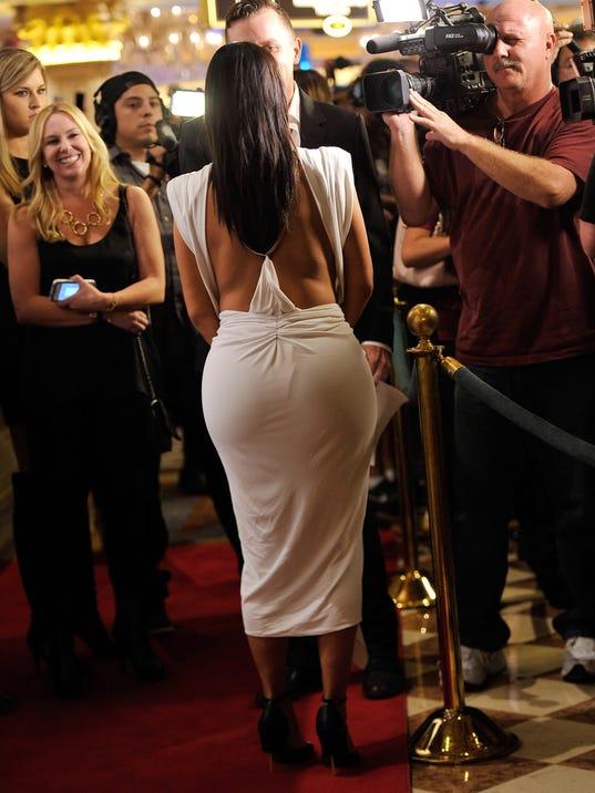 Kim Kardashian from behind