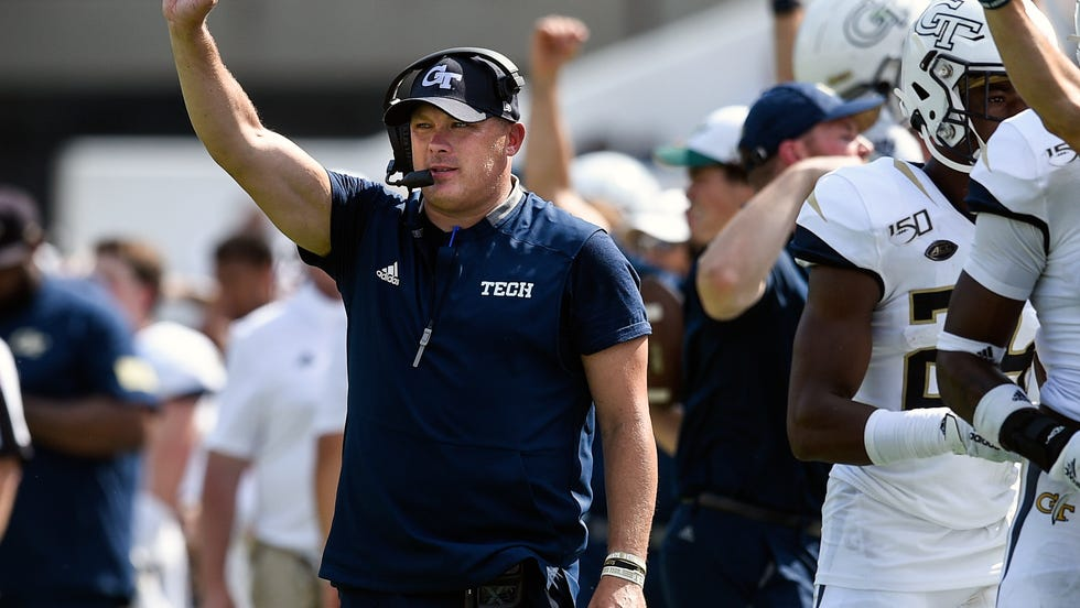 Georgia Tech coach Geoff Collins was one of the first Power Five football coaches to express his support for those protesting the treatment of George Floyd, who was murdered while in police custody in Minneapolis. (AP Photo/Jon Barash, File)