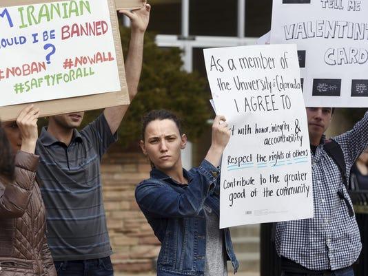 Trump Travel Ban Protest Colorado