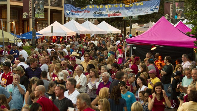 Last year's first Downtown GetDown of football season attracted huge crowds, but attendance has dropped off.