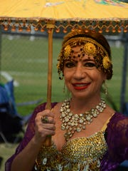 Nella Nugent stays cool in traditional garb at Asia Fest.